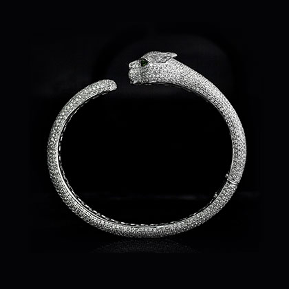 1/9 ct. tw. Diamond Band in 14K White Gold Handmade