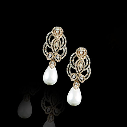 Silver Leaf Floral Pearl Crystal Earrings1/2″ 9/16″ 12mm 14mm 16mm