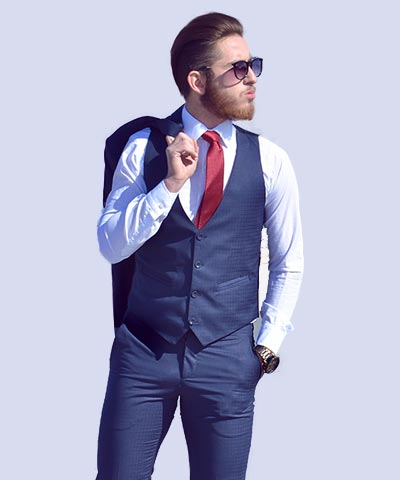 Navy Blue Men Business Suit
